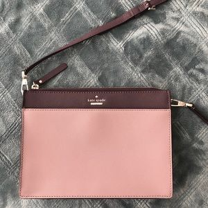 Kate Spade leather two-toned lilac crossbody